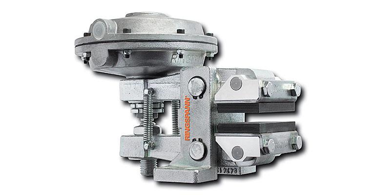 Frenos de pinza positivos y negativos para frenar de forma controlada o por seguridad máquinas rotativas