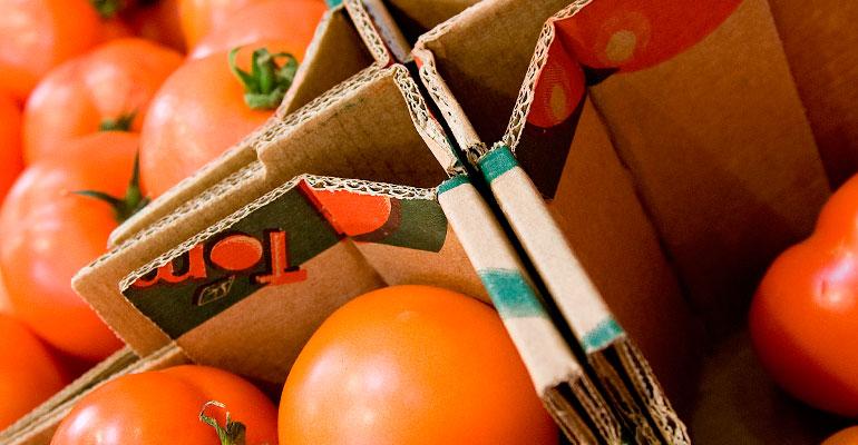 Embalaje de cartón para frutas