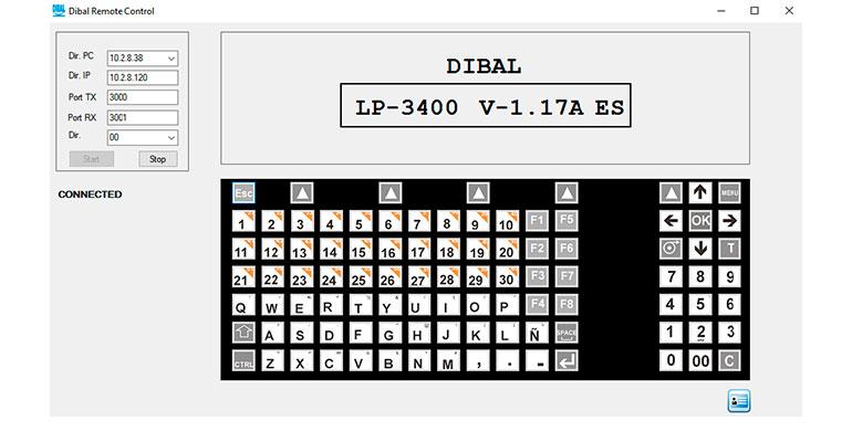 Pantalla principal de la aplicación de Dibal