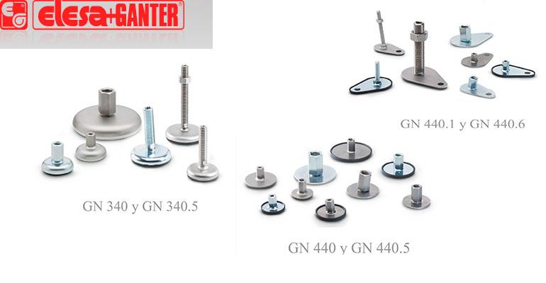 Pies de nivelación metálicos series GN 340 y GN 440