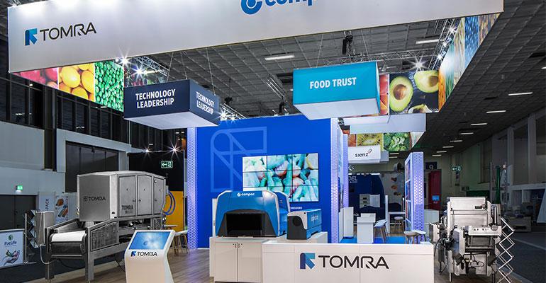 stand de Tomra en Fruit Logistica Berlín