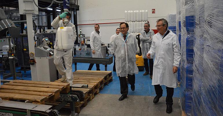 El Conseller de Hacienda, Vicent Soler, visita las nuevas instalaciones de Betelgeux-Christeyns