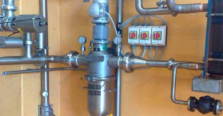 El Self-Cleaning Russell Eco Filter instalado en Corsorzio Latterie Virgilio